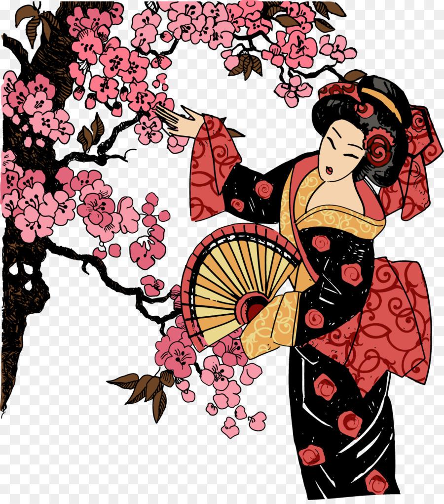 Japón Geisha T Shirt De Diseño Gráfico Ilustración Geisha Japonesa