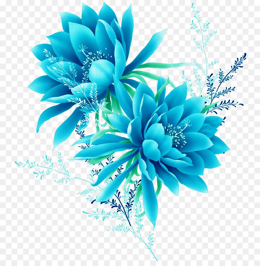 Descarga gratuita de Azul, Flor, Pixel Imágen de Png