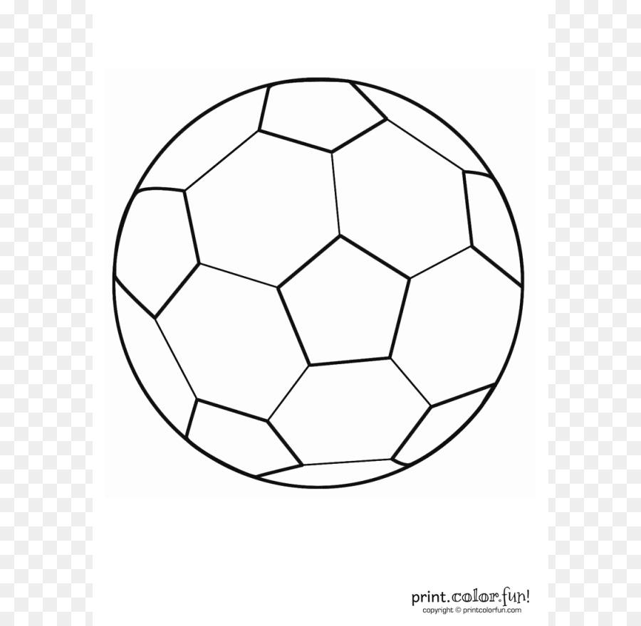 Libro Para Colorear Fútbol Bola Imagen Png Imagen