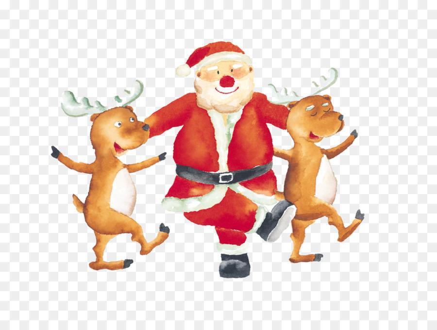 Descarga gratuita de Santa Claus, Reno, Los Ciervos Imágen de Png