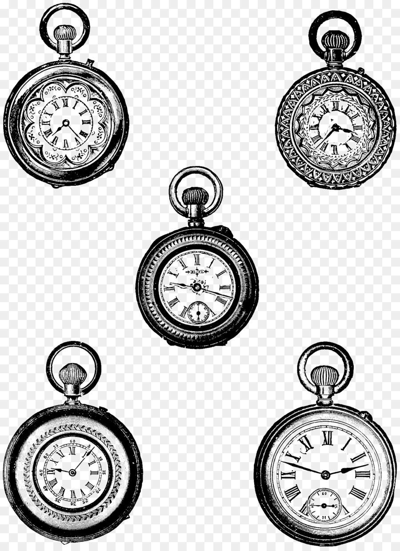 Descarga gratuita de Reloj De Bolsillo, Reloj, Estilo Retro imágenes PNG