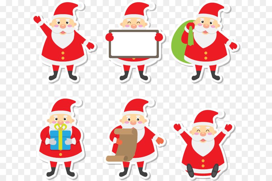 Descarga gratuita de Santa Claus, Postit Nota, Adorno De Navidad imágenes PNG