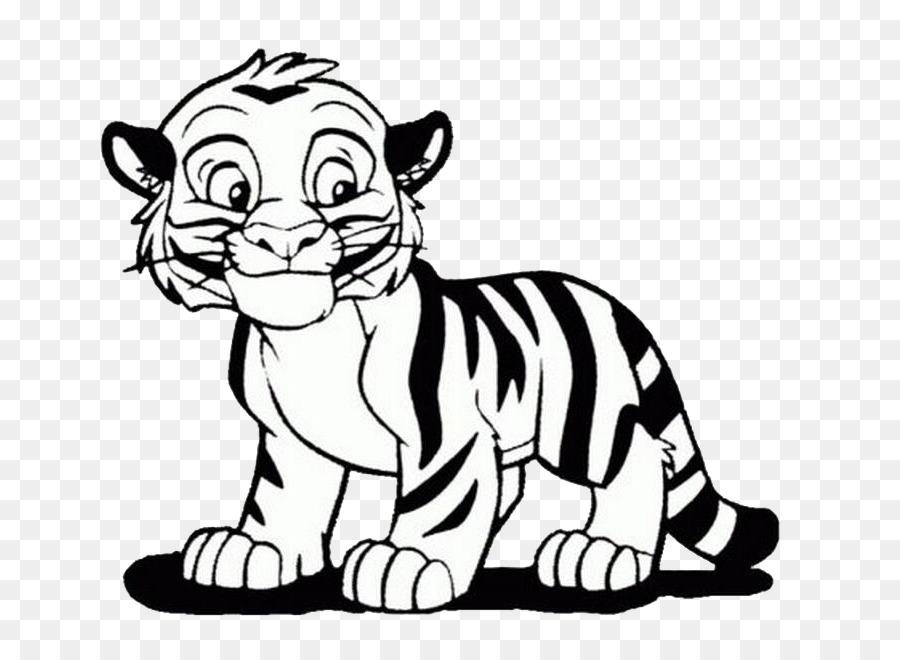 Tigre De Bengala Libro Para Colorear León Imagen Png