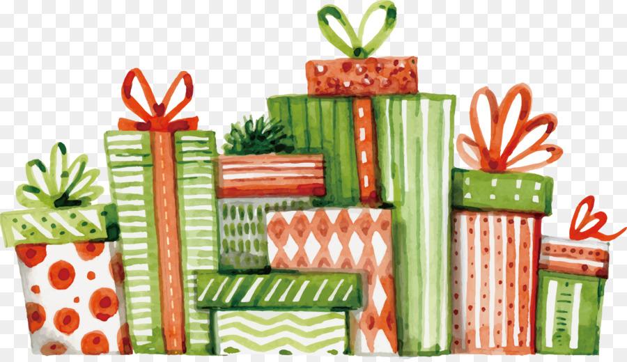 Descarga gratuita de La Navidad, Regalo, Pintura A La Acuarela Imágen de Png