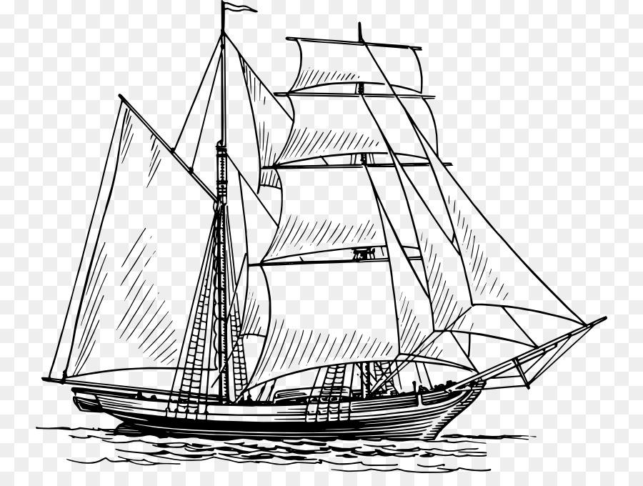 Descarga gratuita de Dibujo, Barco, Velero Imágen de Png
