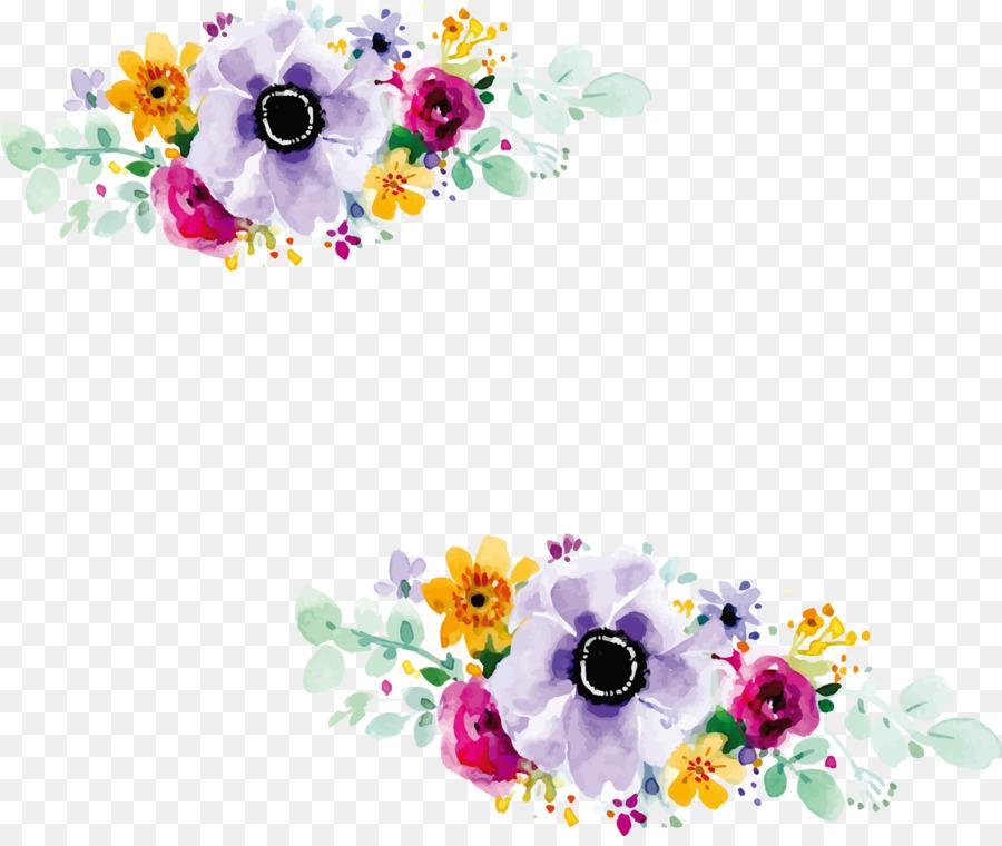 Descarga gratuita de Diseño Floral, Invitación De La Boda, Acuarela De Flores Imágen de Png