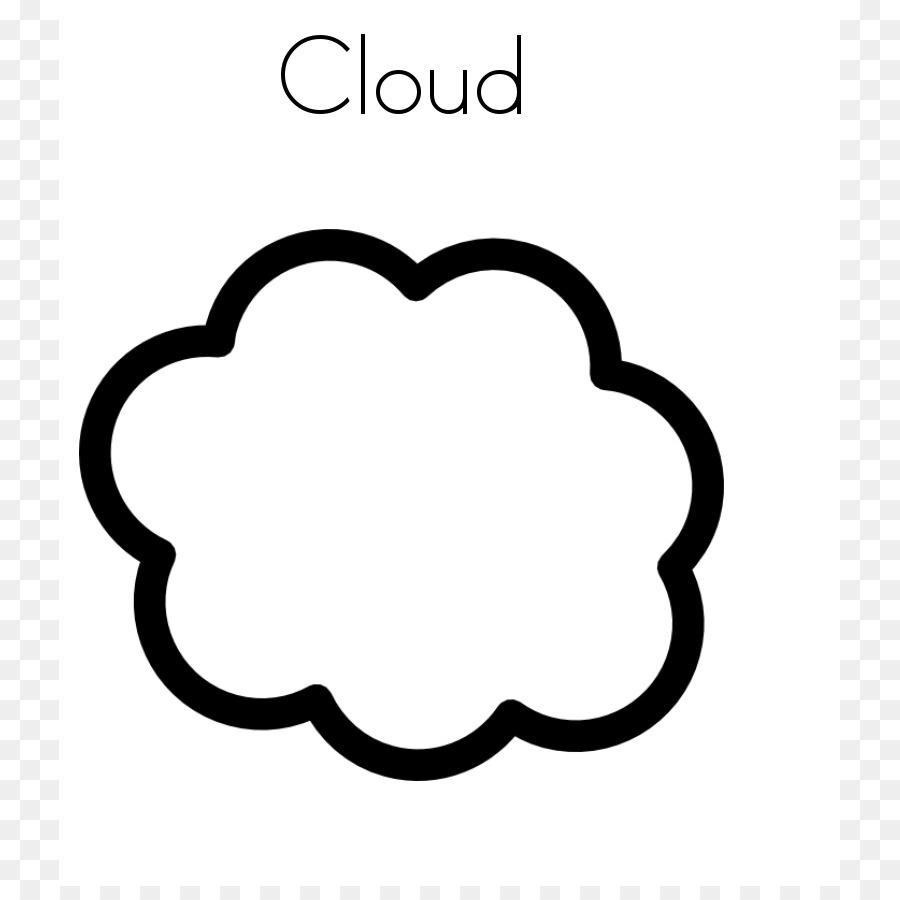Pequeña Nube Libro Para Colorear La Nube Imagen Png