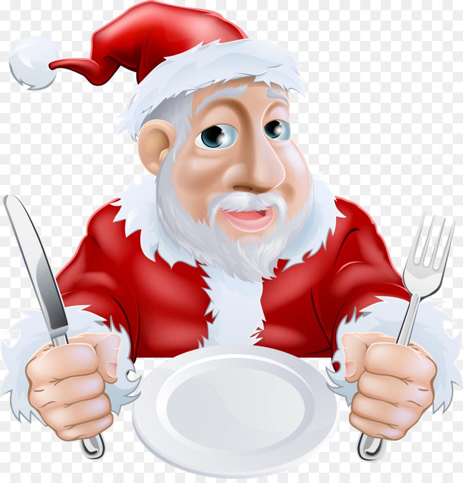Descarga gratuita de Santa Claus, Cena De Navidad, De Dibujos Animados Imágen de Png