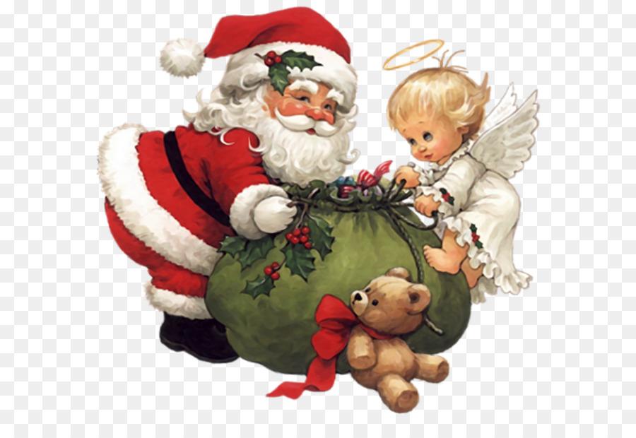 Descarga gratuita de Santa Claus, La Navidad, ángel Imágen de Png
