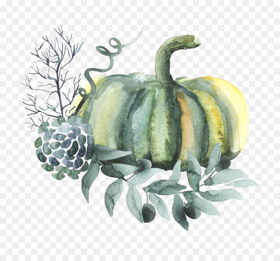 Descarga gratuita de Calabaza, Pintura A La Acuarela, Vegetal Imágen de Png