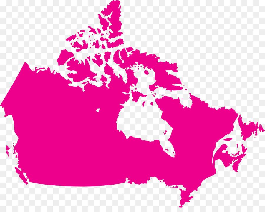 Descarga gratuita de Canadá, Mapa Del Vector, Mapa Imágen de Png