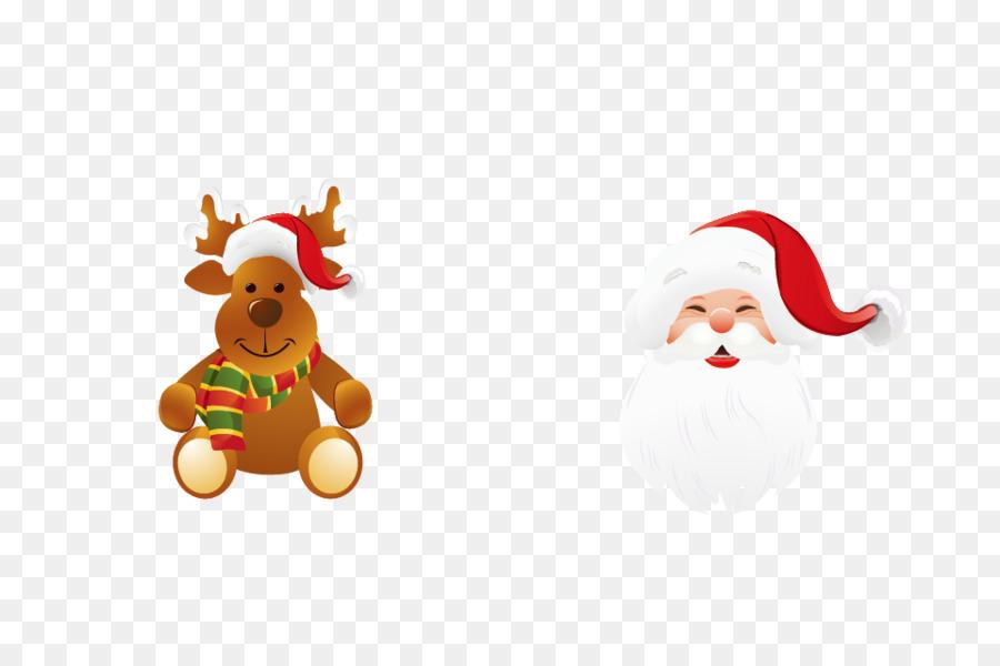 Descarga gratuita de Santa Claus, Reno, Adorno De Navidad Imágen de Png