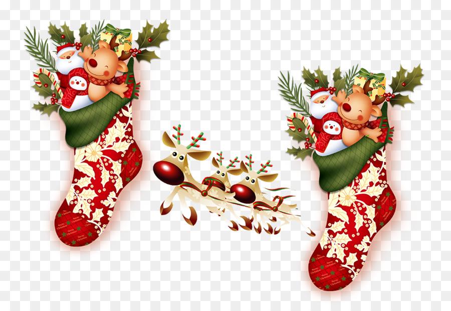 Descarga gratuita de Santa Claus, La Navidad, Calcetín De Navidad imágenes PNG