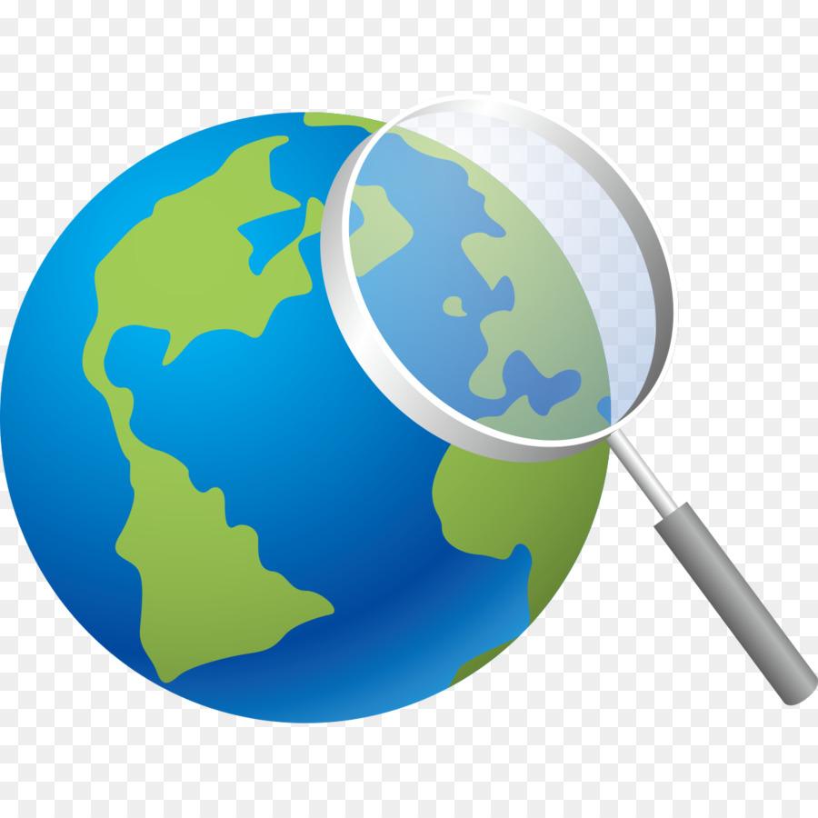 Descarga gratuita de La Tierra, Lupa, Diseñador Imágen de Png