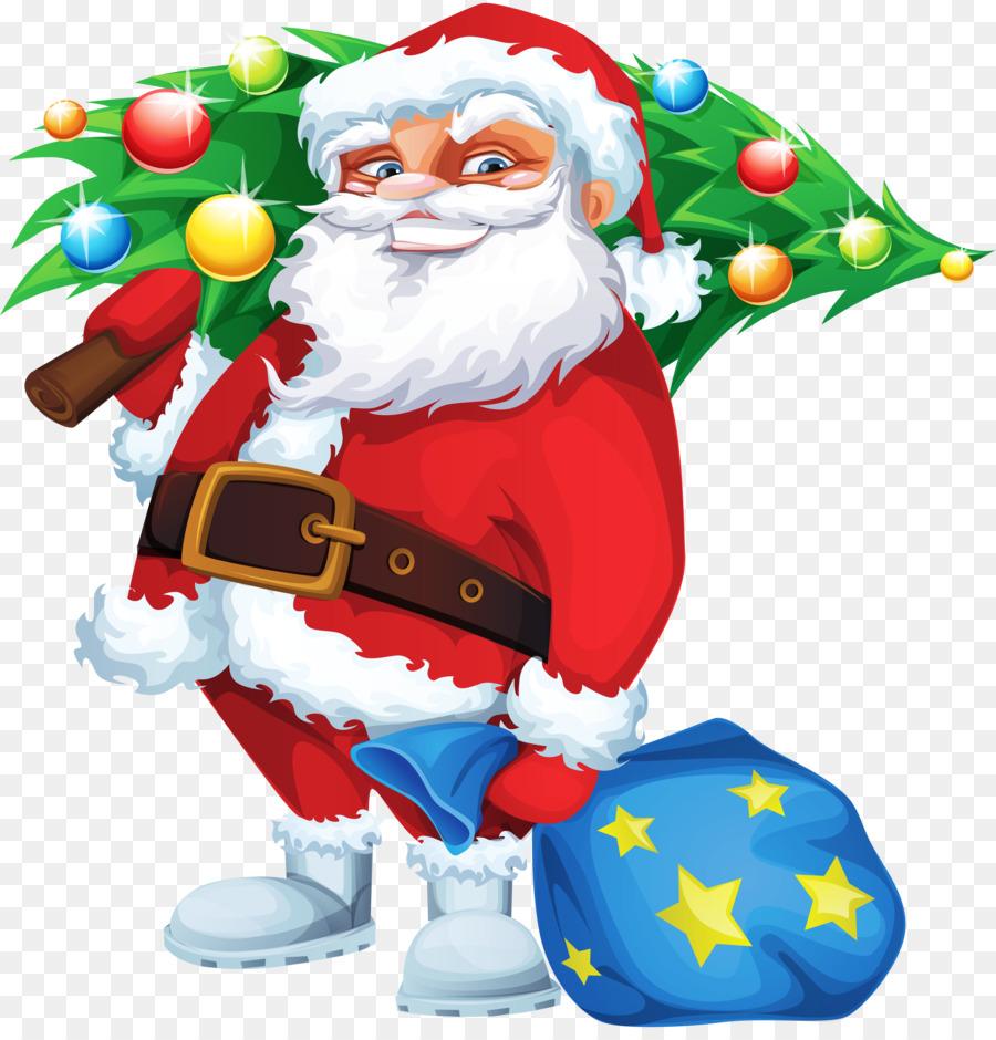 Descarga gratuita de Santa Claus, árbol De Navidad, La Navidad Imágen de Png
