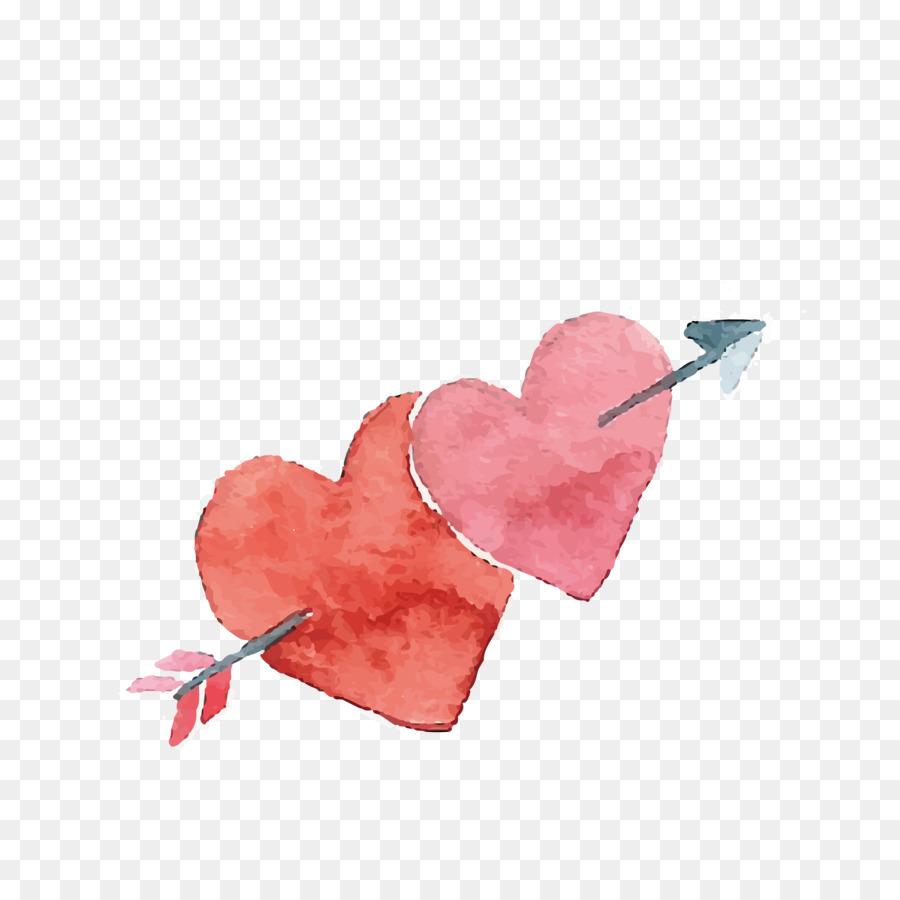 Descarga gratuita de Corazón, El Día De San Valentín, Pintura A La Acuarela imágenes PNG