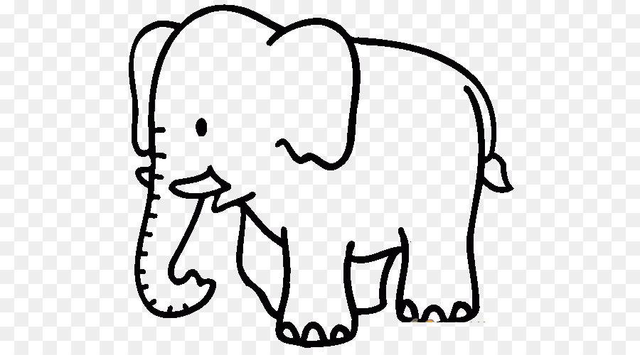 El Elefante Africano Libro Para Colorear Elefante Imagen Png