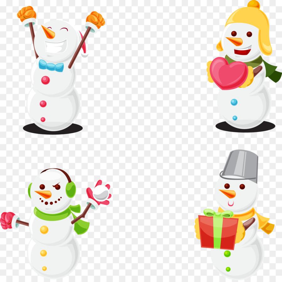 Descarga gratuita de Muñeco De Nieve, La Navidad, Euclídea Del Vector Imágen de Png