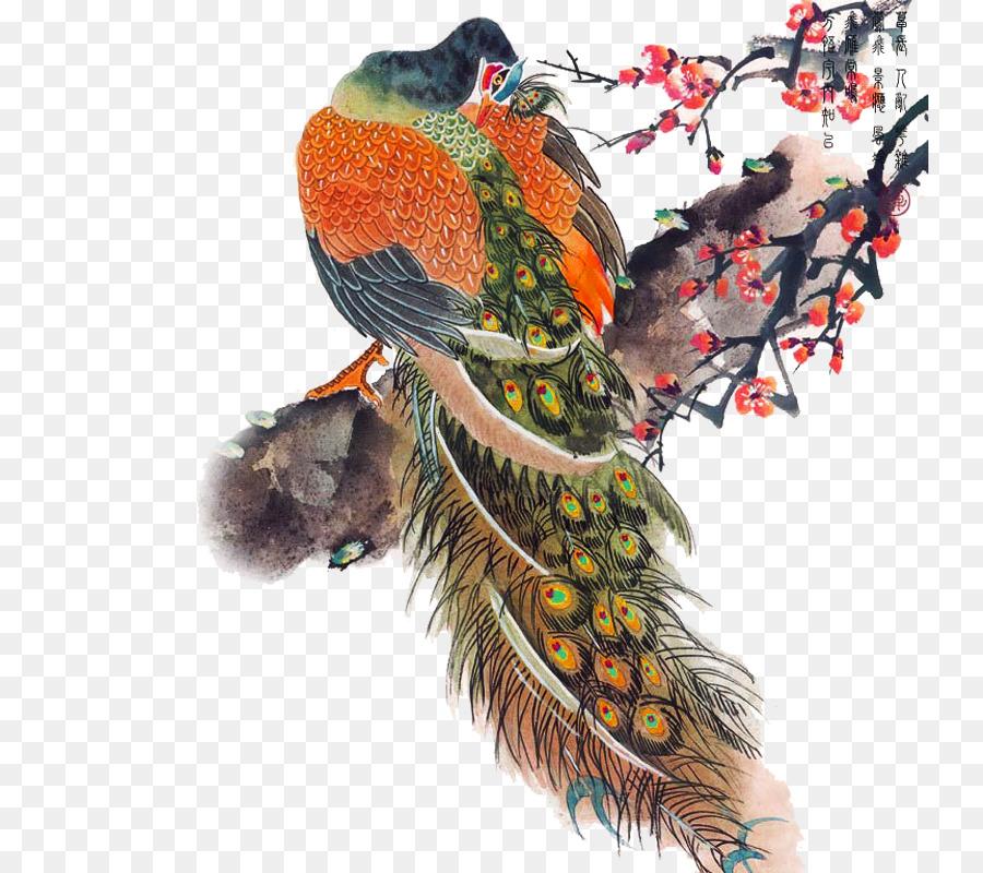 Descarga gratuita de Pájaro, Pavo Real, Pintura imágenes PNG