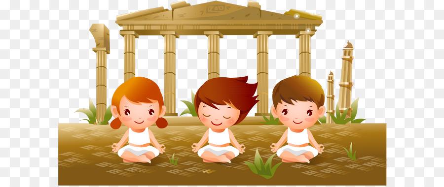 Descarga gratuita de Yoga, Niño, De Dibujos Animados Imágen de Png