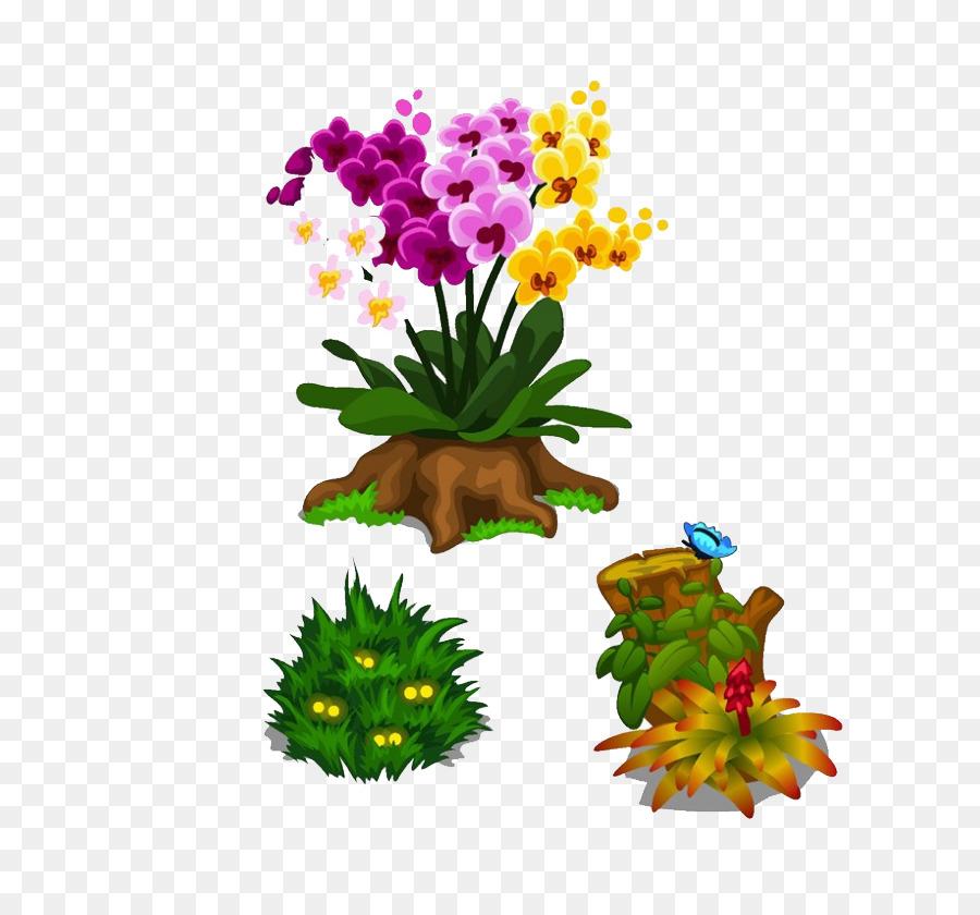 Descarga gratuita de De Dibujos Animados, Las Orquídeas, Royaltyfree imágenes PNG
