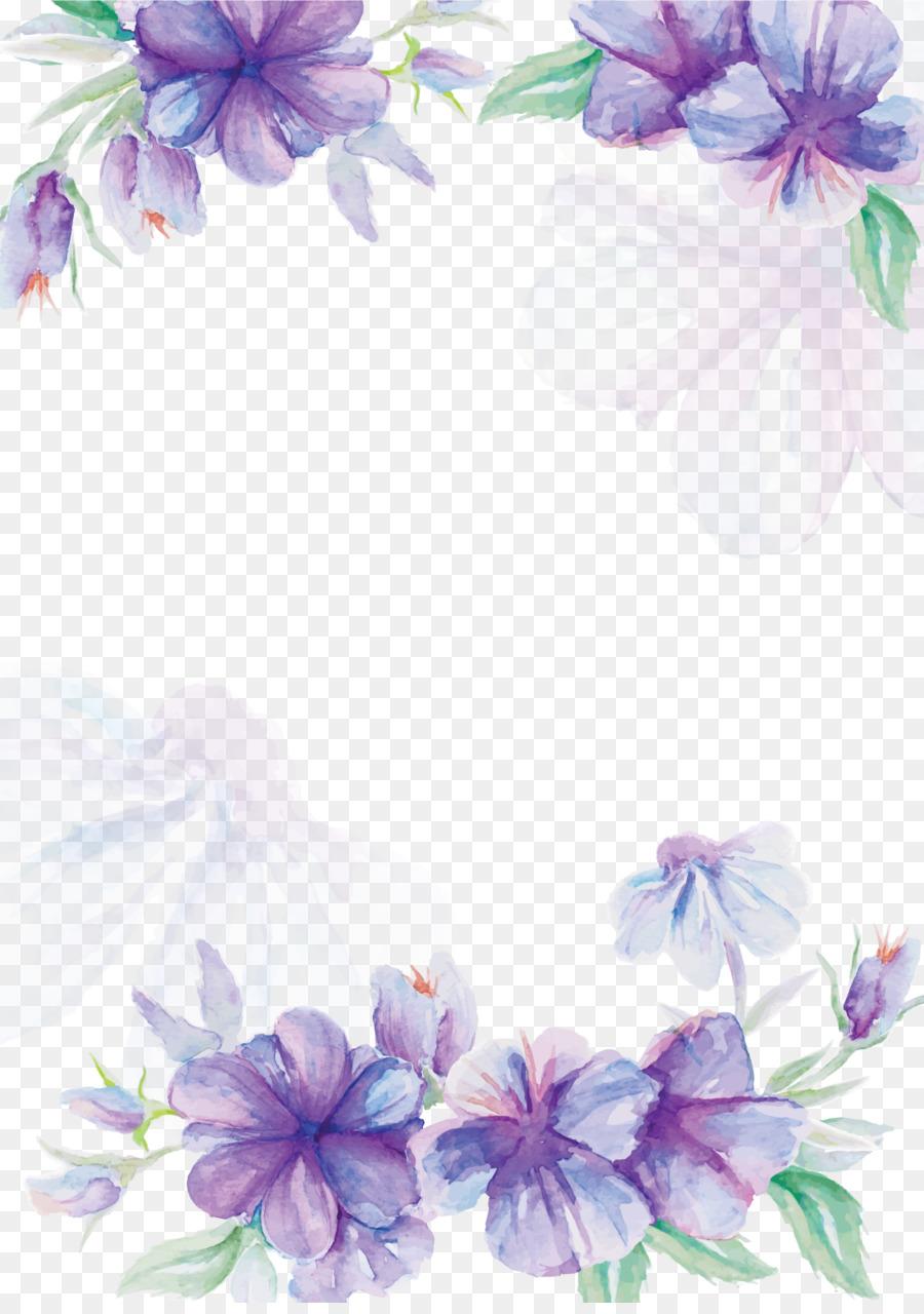 Descarga gratuita de Invitación De La Boda, Flor, Pintura A La Acuarela Imágen de Png