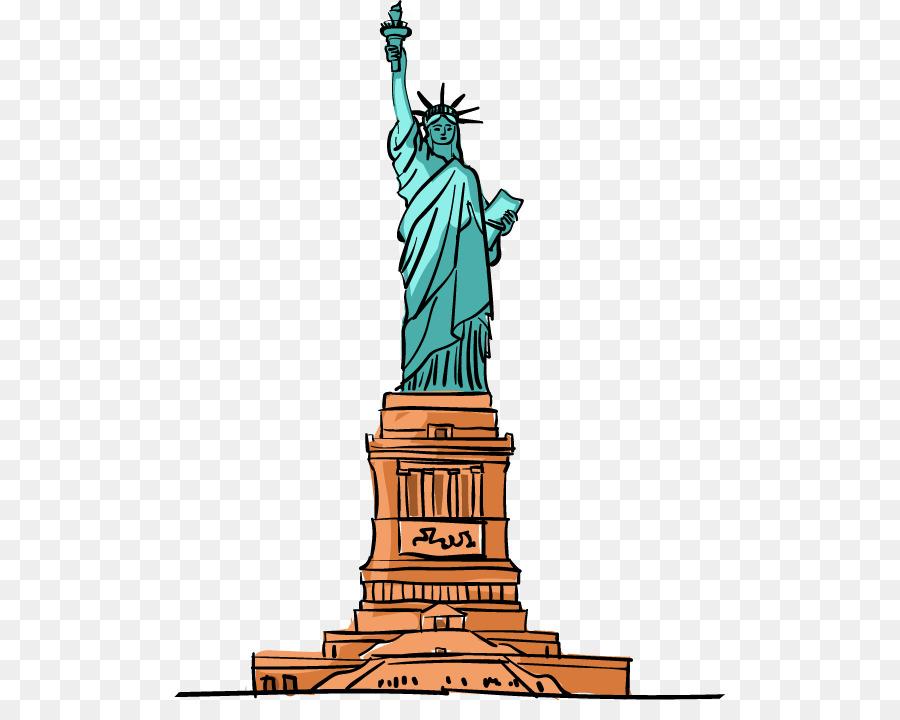 Descarga gratuita de Estatua De La Libertad, De Dibujos Animados, Descargar imágenes PNG