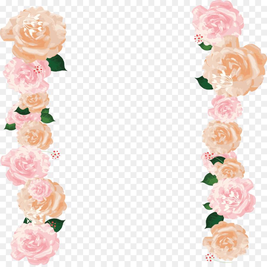 Descarga gratuita de Las Rosas De Jardín, Frontera Flores, Rosa Imágen de Png