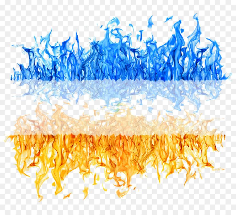 Descarga gratuita de Amarillo, Llama, Azul Imágen de Png