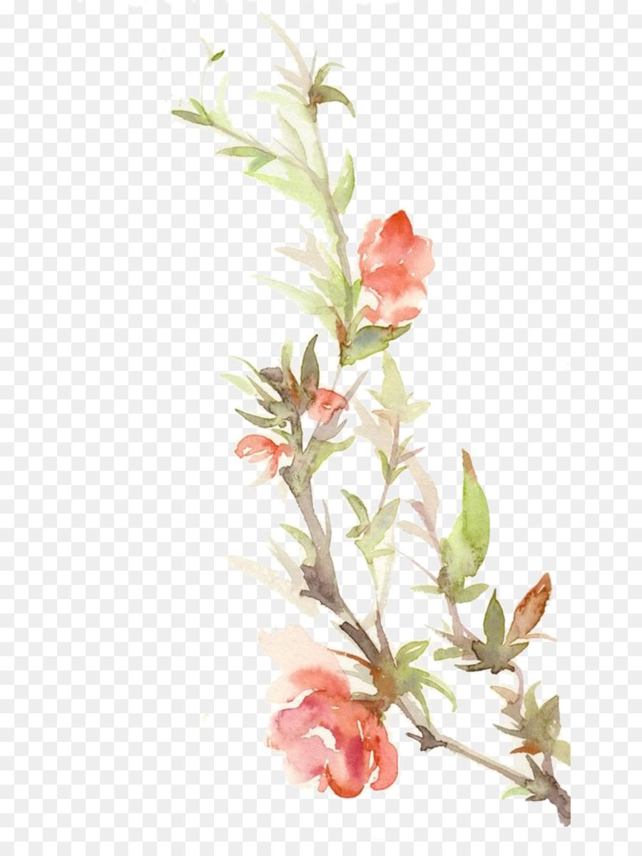Descarga gratuita de Papel, Pintura A La Acuarela, Diseño Floral Imágen de Png