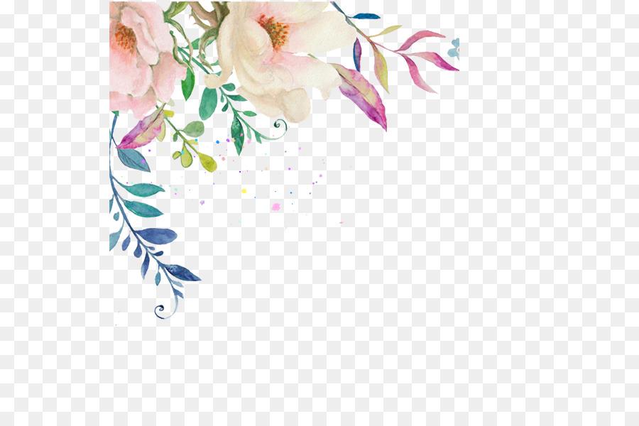 Descarga gratuita de Acuarela De Flores, Invitación De La Boda, Flor Imágen de Png