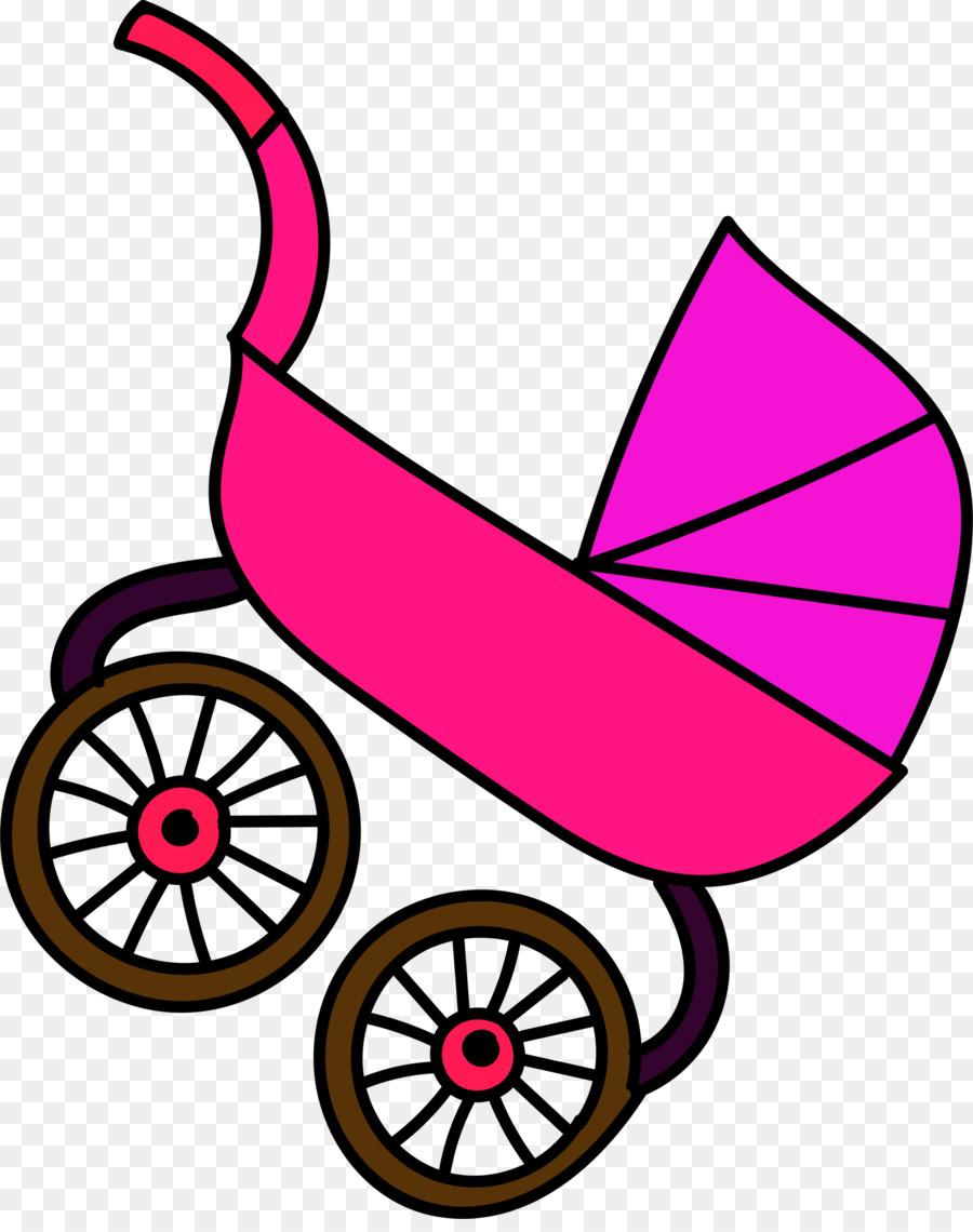 Cochecito De Bebé De Dibujos Animados, Cartoon, Pink