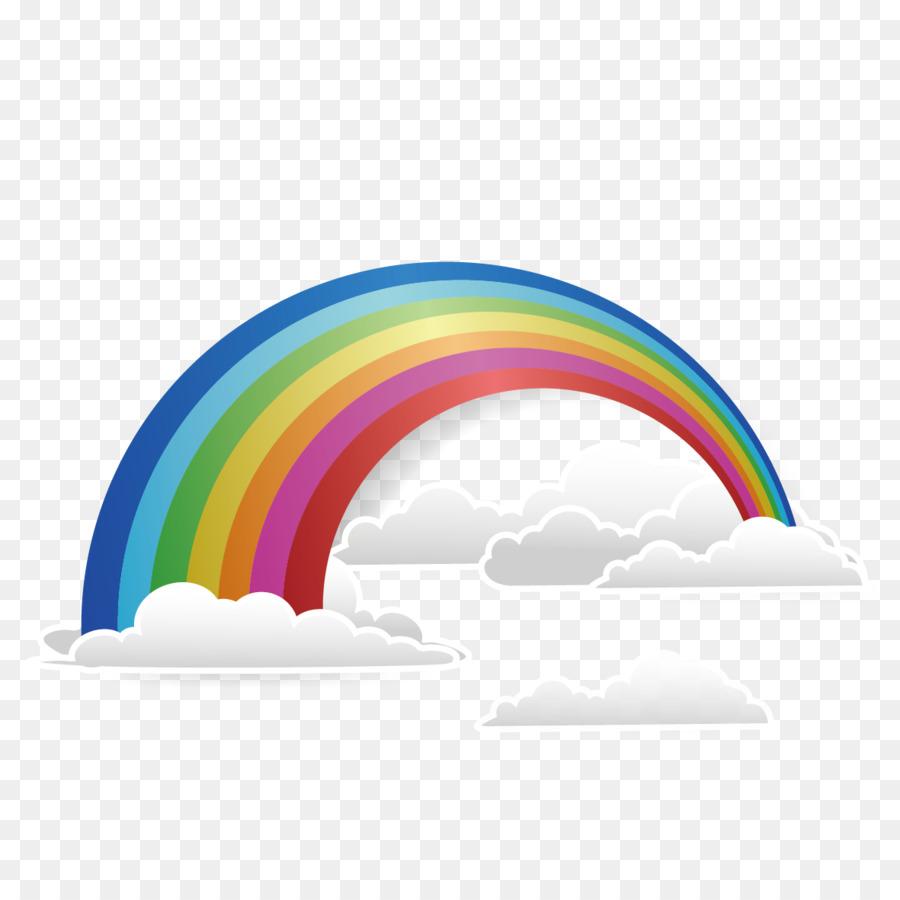 Descarga gratuita de Arco Iris, La Nube, Postscript Encapsulado imágenes PNG