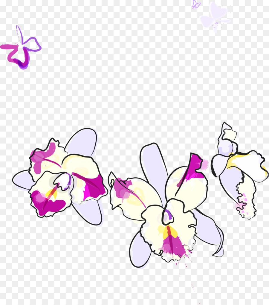 Descarga gratuita de Phalaenopsis Violacea, Flor, Euclídea Del Vector imágenes PNG