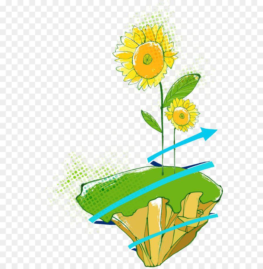 Descarga gratuita de Acuarela De Flores, Común De Girasol, Pintura imágenes PNG