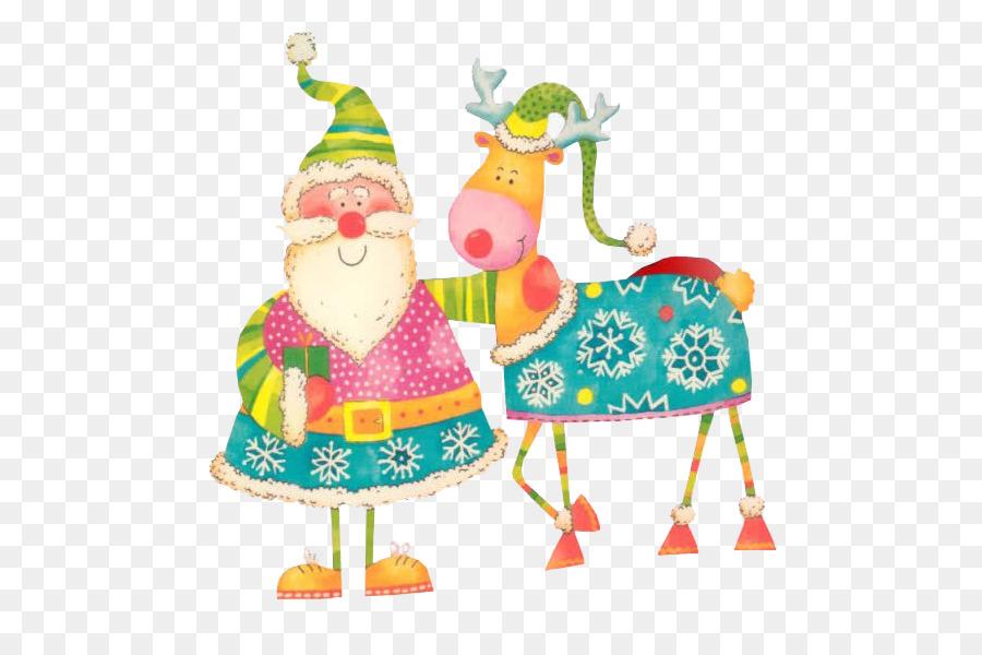 Descarga gratuita de Rudolph, Reno, Santa Claus imágenes PNG
