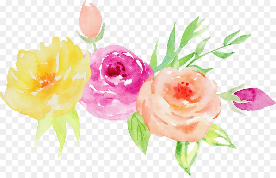 Las Rosas De Jardín, Pintura A La Acuarela, Diseño