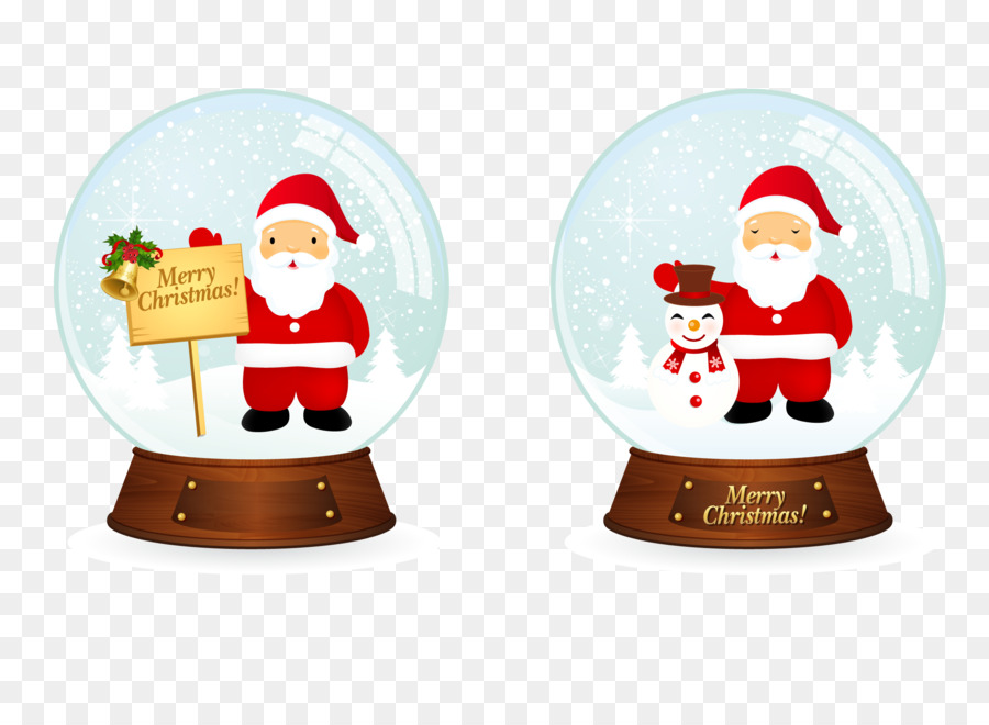 Descarga gratuita de Santa Claus, La Navidad, Bola De Nieve Imágen de Png