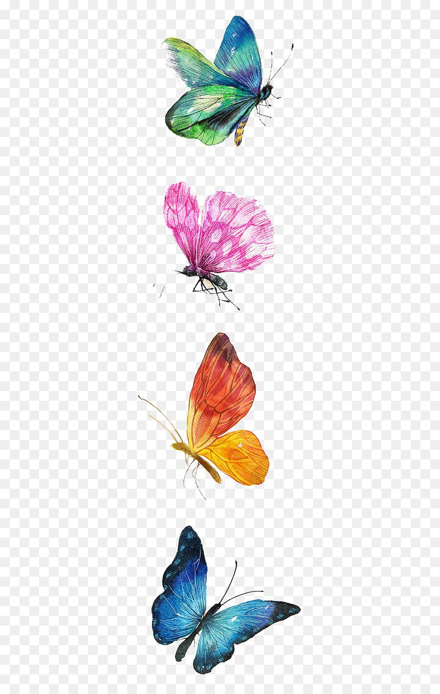 Descarga gratuita de Mariposa, Dibujo, Pintura imágenes PNG