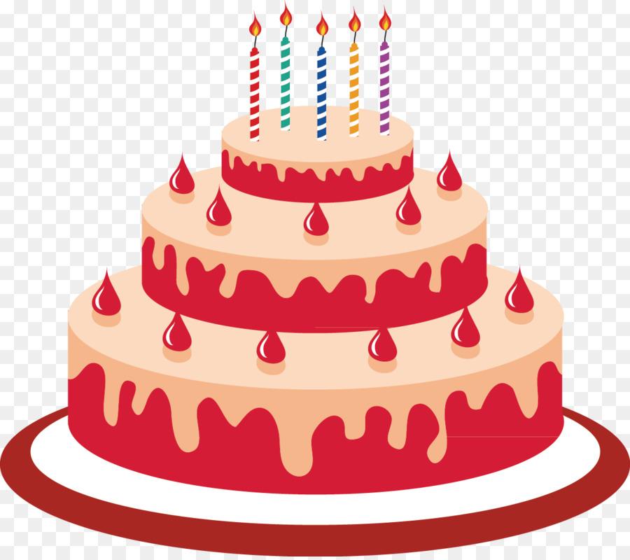 Pastel De Cumpleaños Pastel De Dibujos Animados Imagen Png