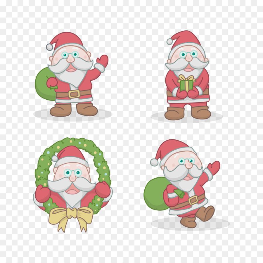 Descarga gratuita de Santa Claus, Adorno De Navidad, De Dibujos Animados imágenes PNG