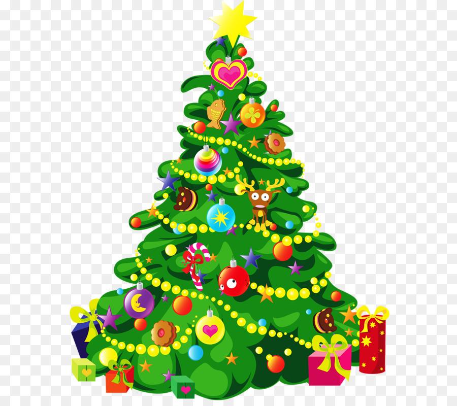 Descarga gratuita de árbol De Navidad, La Navidad, De Dibujos Animados Imágen de Png