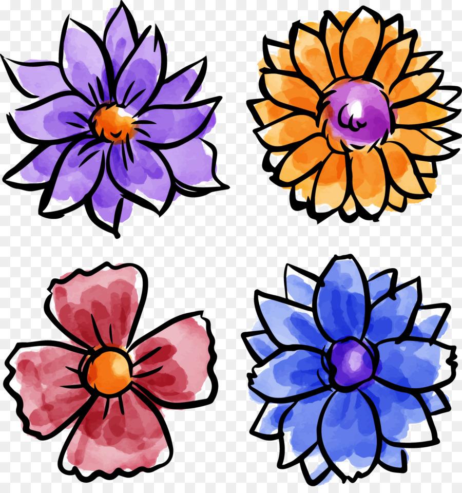 Descarga gratuita de Diseño Floral, Acuarela De Flores, Pintura A La Acuarela imágenes PNG