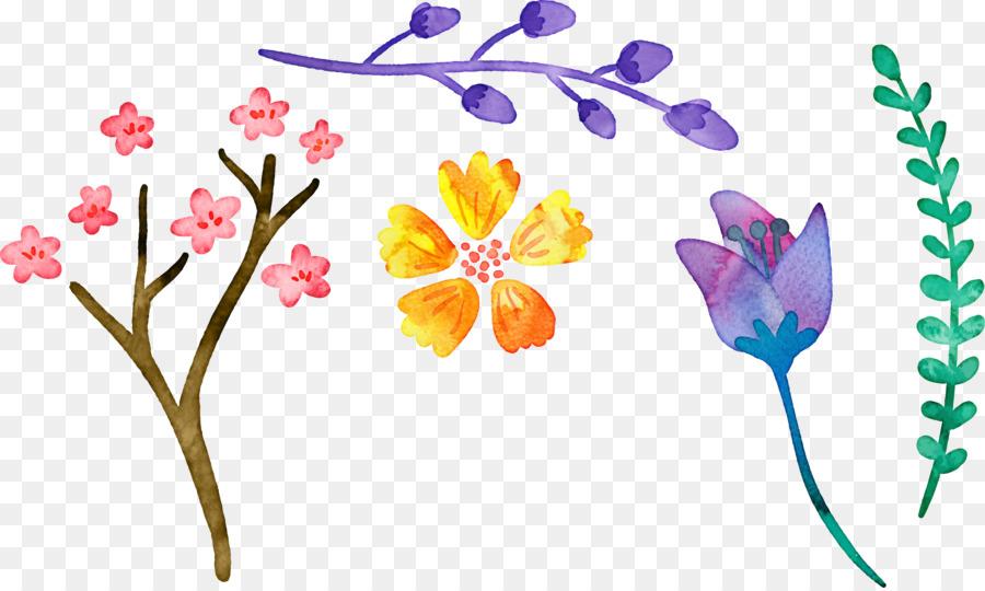 Descarga gratuita de Diseño Floral, La Pintura De Flores, Creativo Acuarela Imágen de Png