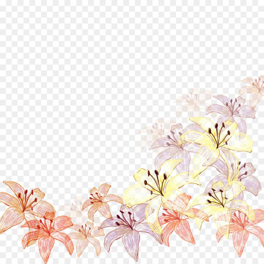 Descarga gratuita de Diseño Floral, Textil, Las Flores Cortadas Imágen de Png