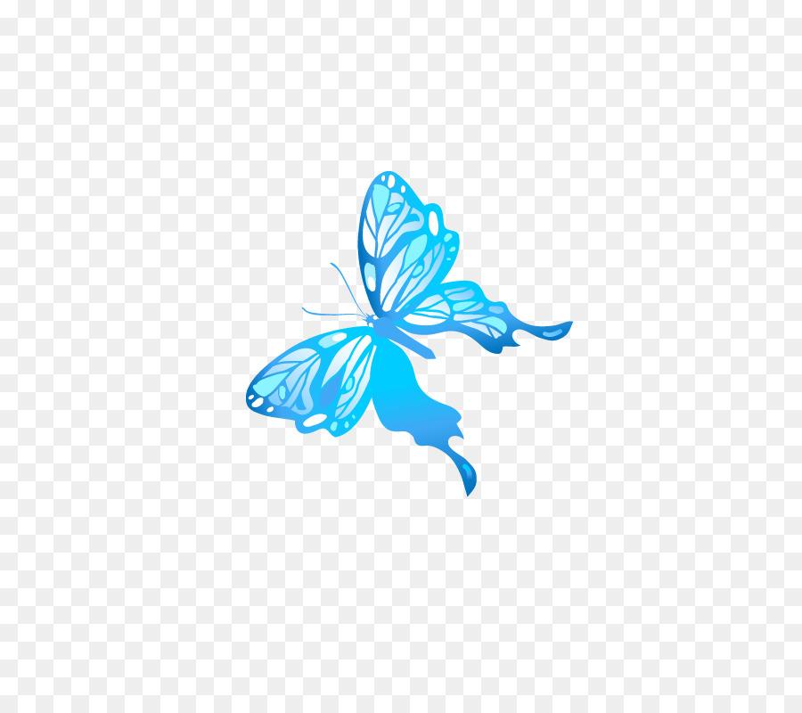 Descarga gratuita de Mariposa, Azul, Amarillo Imágen de Png
