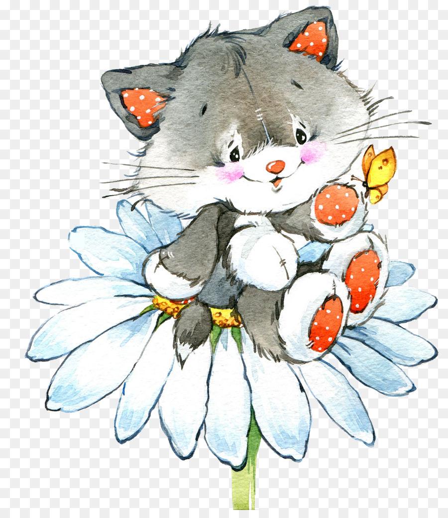 Descarga gratuita de Gato, Dibujo, Pintura A La Acuarela imágenes PNG