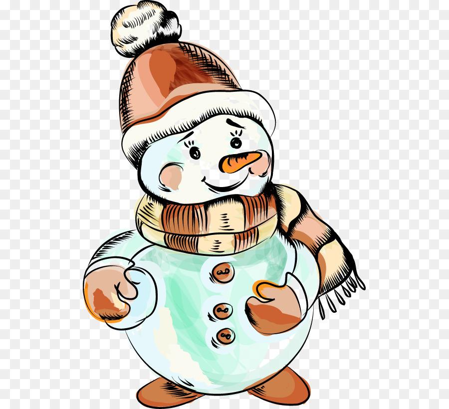Descarga gratuita de Muñeco De Nieve, La Navidad, Dibujo Imágen de Png
