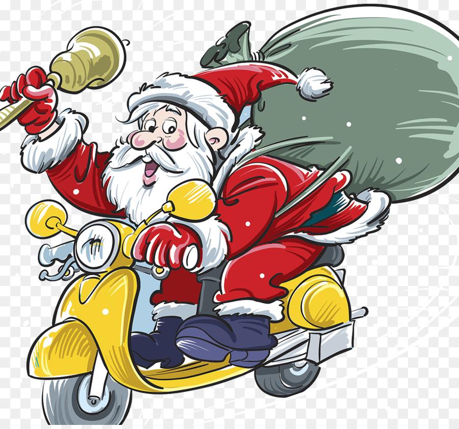 Descarga gratuita de Santa Claus, Scooter, La Navidad Imágen de Png