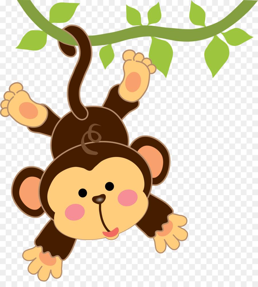 Descarga gratuita de Bebé, De Dibujos Animados, Mono Imágen de Png